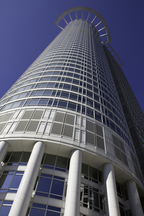 地区财务法兰克福现代摩天大楼 库存照片