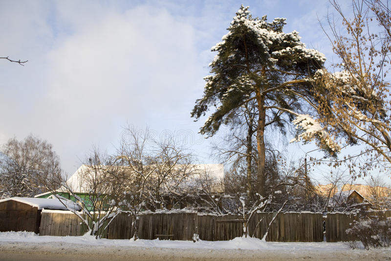 地区mytishchi俄国taininskoye村庄 免版税图库摄影