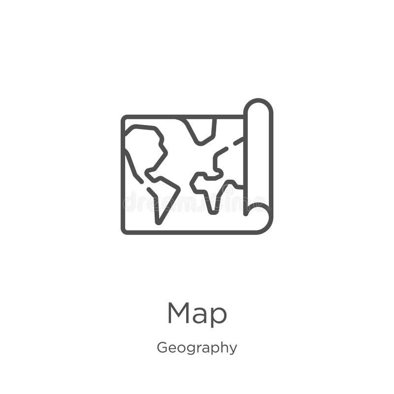 地图从地理汇集的象传染媒介 r 概述,稀薄的线网站的地图象 向量例证