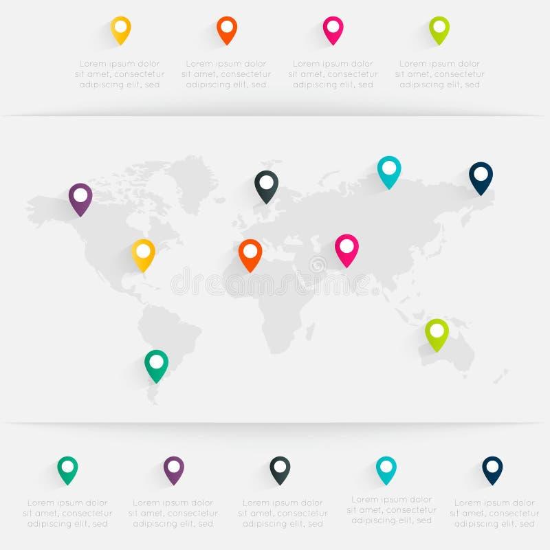 地图信息图表 皇族释放例证