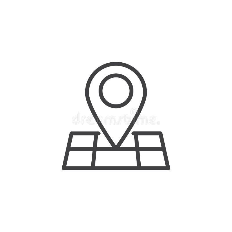 地图别针地点概述象 向量例证