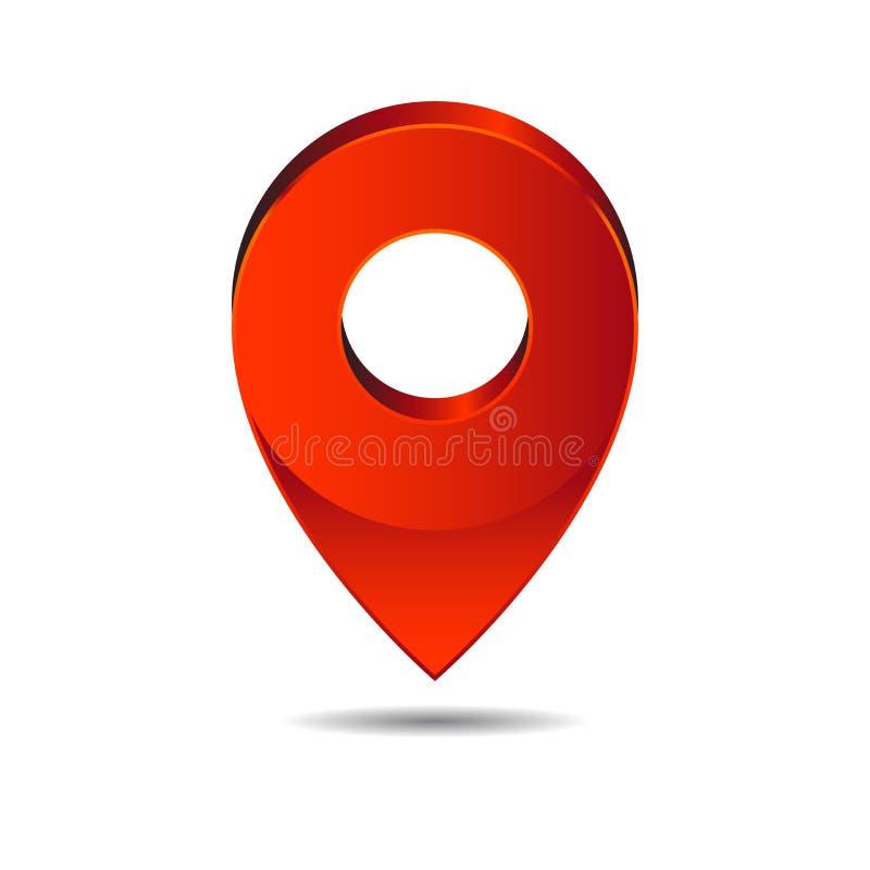 地图别针尖象地点标志 免版税图库摄影