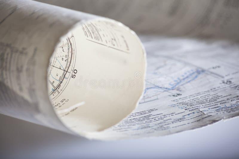 地图卷 免版税图库摄影