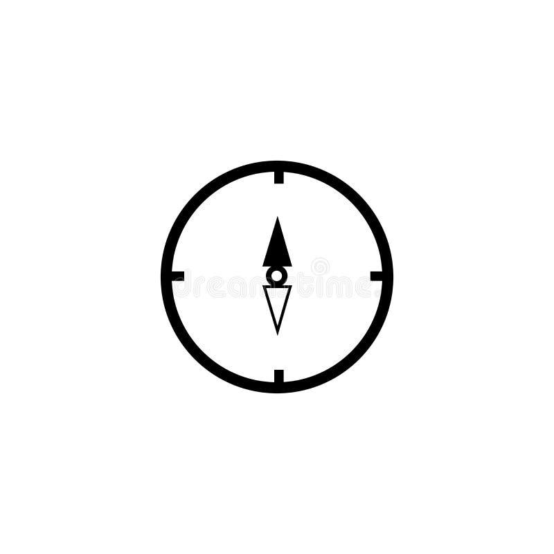 地图和指南针取向工具象在白色背景,地图和指南针取向工具商标和标志隔绝的传染媒介标志 库存例证