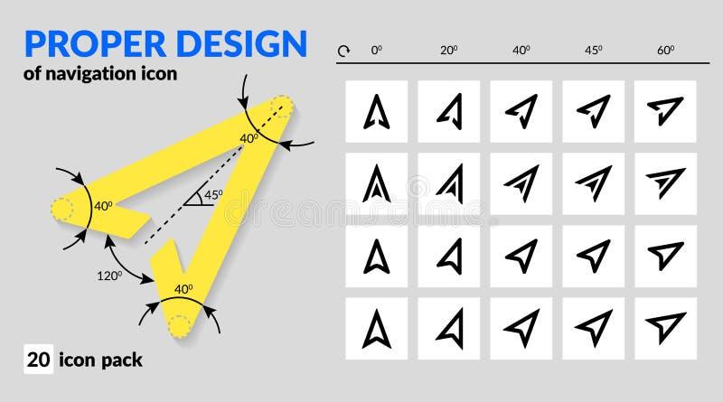 地图和路线航海的航海象适当的设计在mo 向量例证