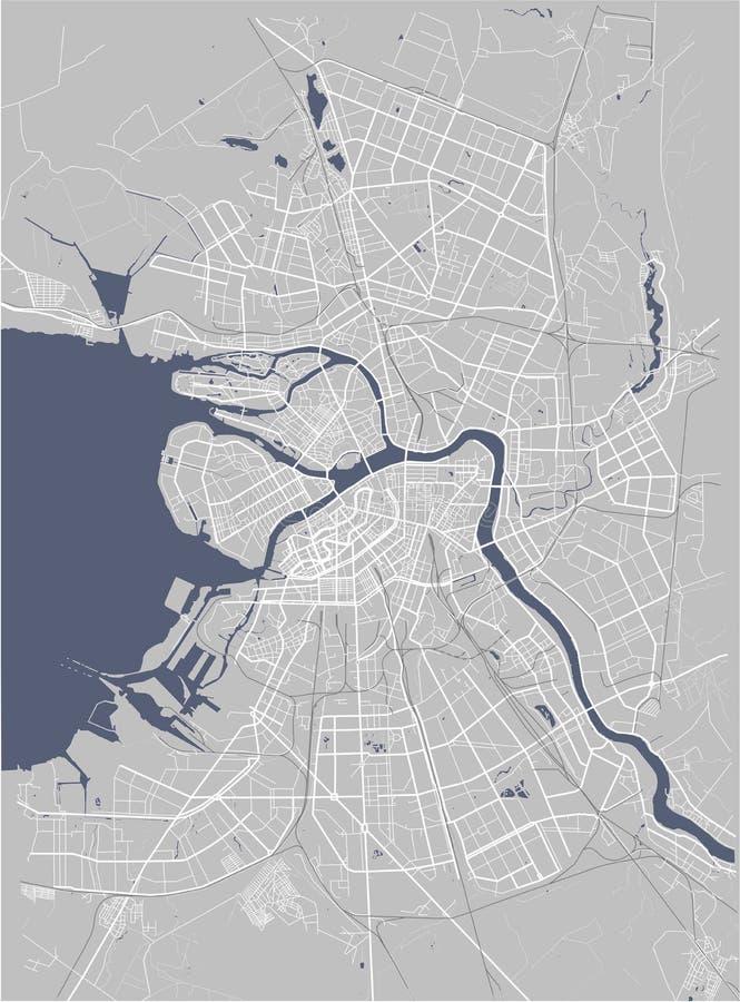 地图圣彼得堡,俄罗斯 库存例证