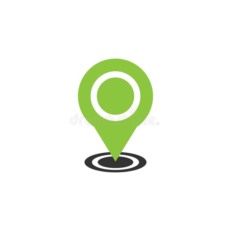 地图尖象传染媒介例证 GPS与与别针尖的地点标志图形设计的 向量例证