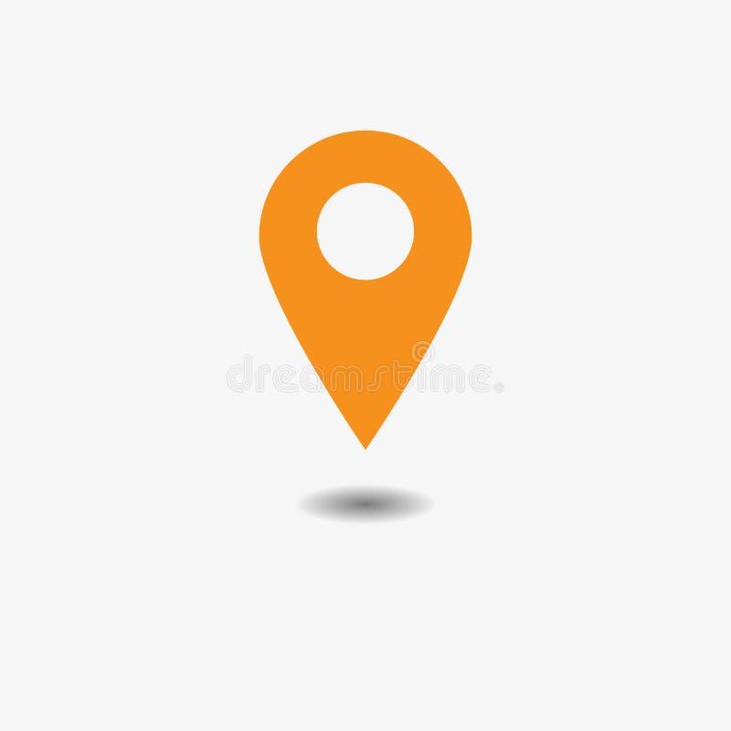 地图尖象传染媒介  GPS地点标志 平的设计猪圈 皇族释放例证