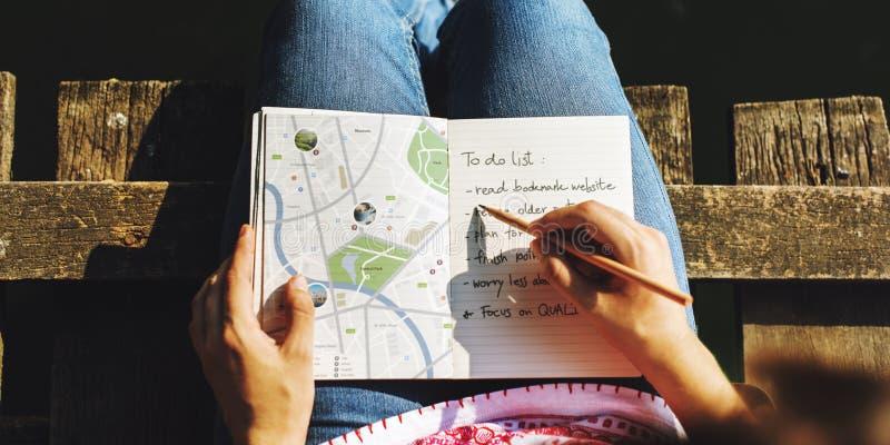地图方向旅途旅行癖探索路线概念 免版税库存照片