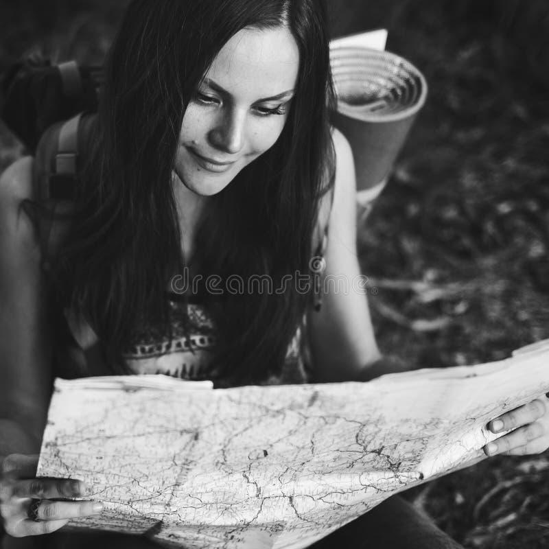 地图方向旅途旅行癖探索路线 库存照片