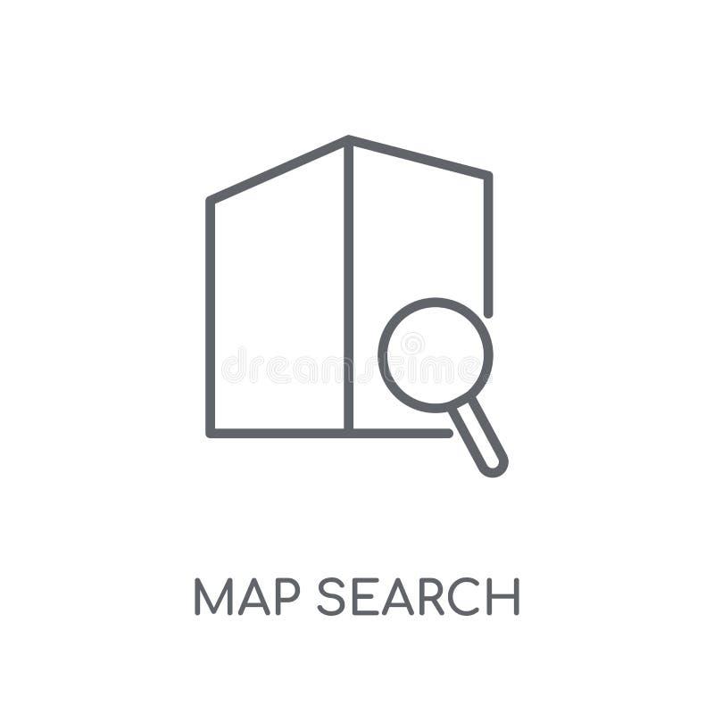 地图查寻线性象 现代概述地图查寻商标概念o 向量例证