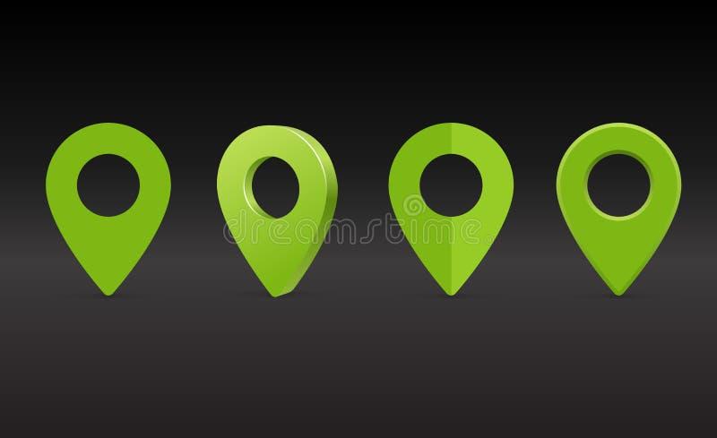 地图标志,地图别针传染媒介 地图标志 库存照片