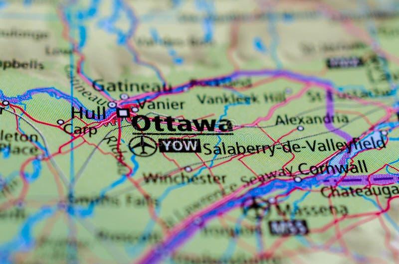 地图的渥太华 免版税库存图片