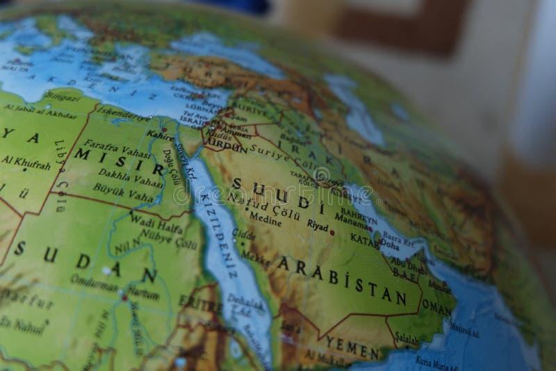 地图的非洲 库存照片