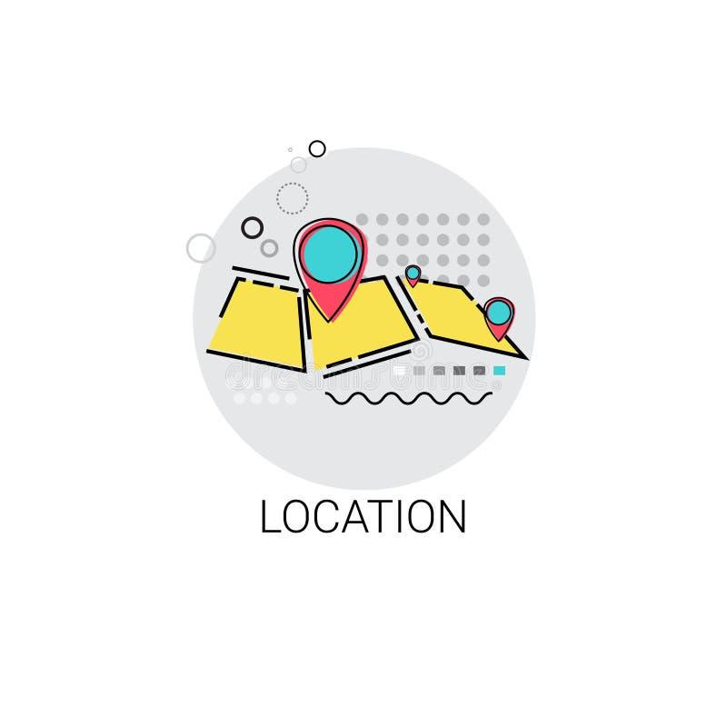 地图航海地点位置象 库存例证
