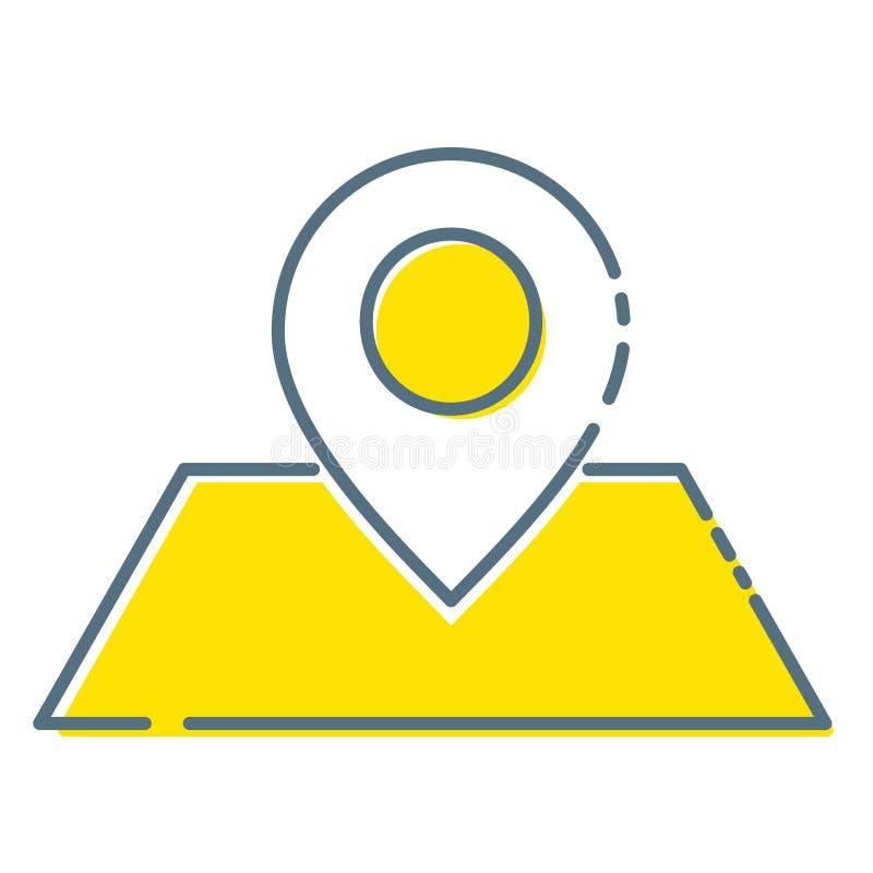 地图象种族分界线标志 优质质量在时髦样式的被隔绝的目的地元素 向量例证