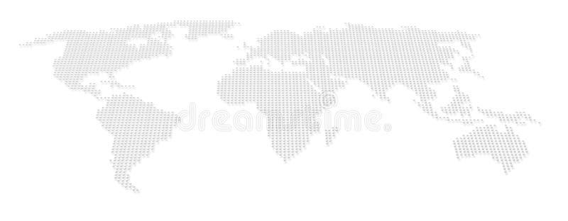 地图集小点映射世界 向量例证