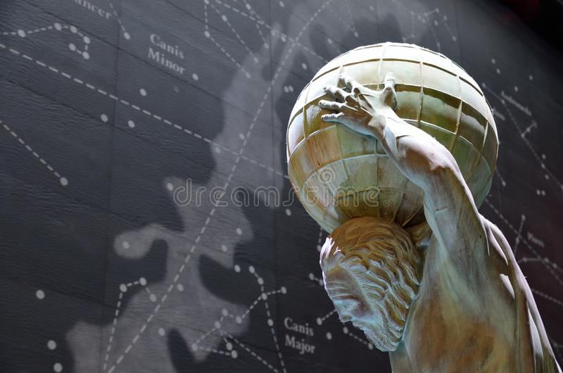 地图集雕象 免版税库存图片
