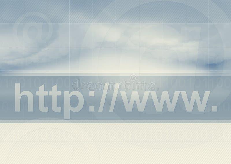 地址互联网符号 向量例证