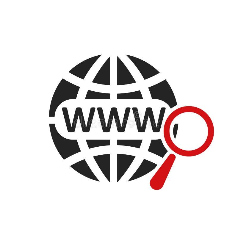 地址和导航条象,浏览器应用象,概念网上查寻万维网图表–传染媒介 皇族释放例证