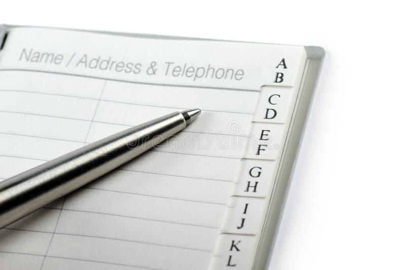 地址簿 免版税图库摄影