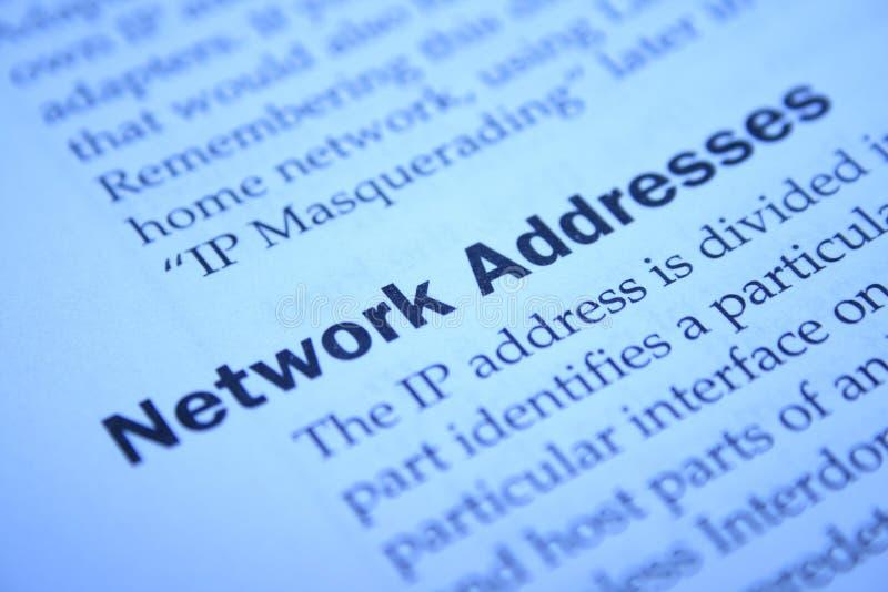 地址网络 库存照片