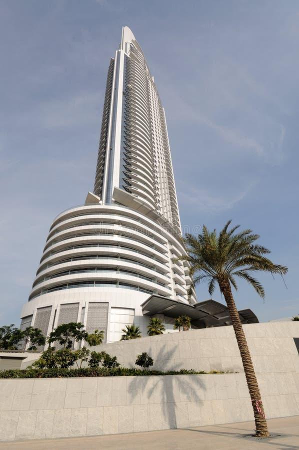 地址迪拜旅馆 免版税图库摄影