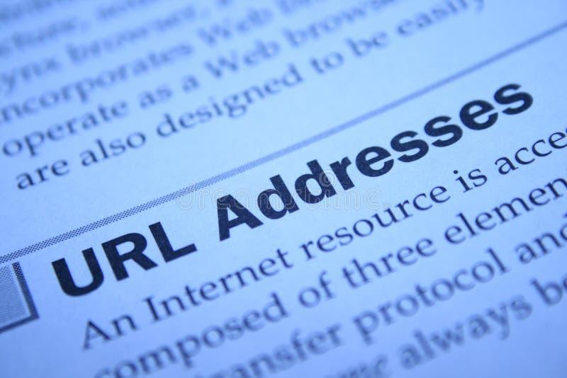 地址URL 库存照片