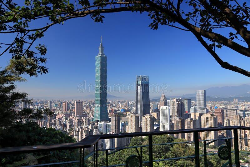 地平线台北 免版税图库摄影