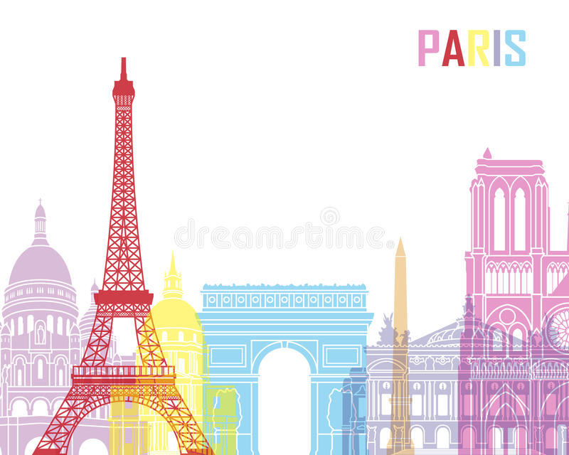 巴黎地平线流行音乐 皇族释放例证