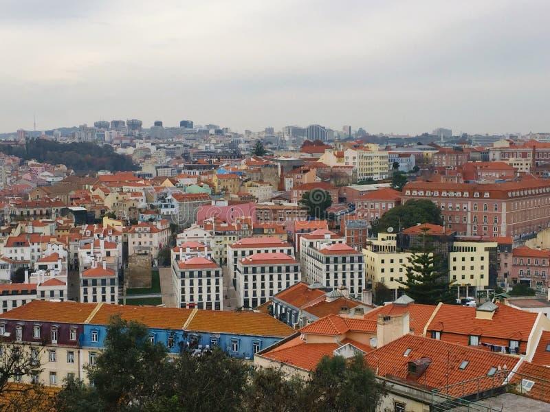 地平线里斯本葡萄牙 库存照片
