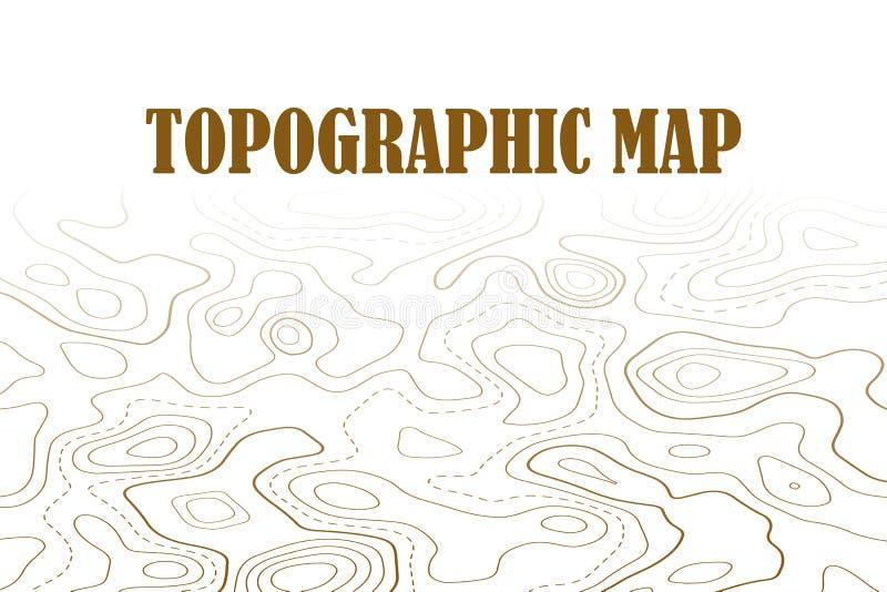 地形图等高背景 与海拔的线地图 地理世界地势地图栅格摘要例证 皇族释放例证