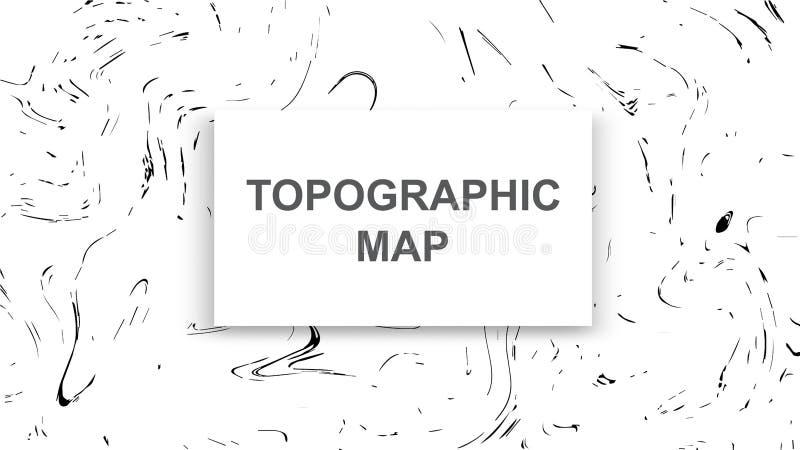 地形图等高背景 与海拔的线地图 地理世界地势地图栅格摘要 皇族释放例证