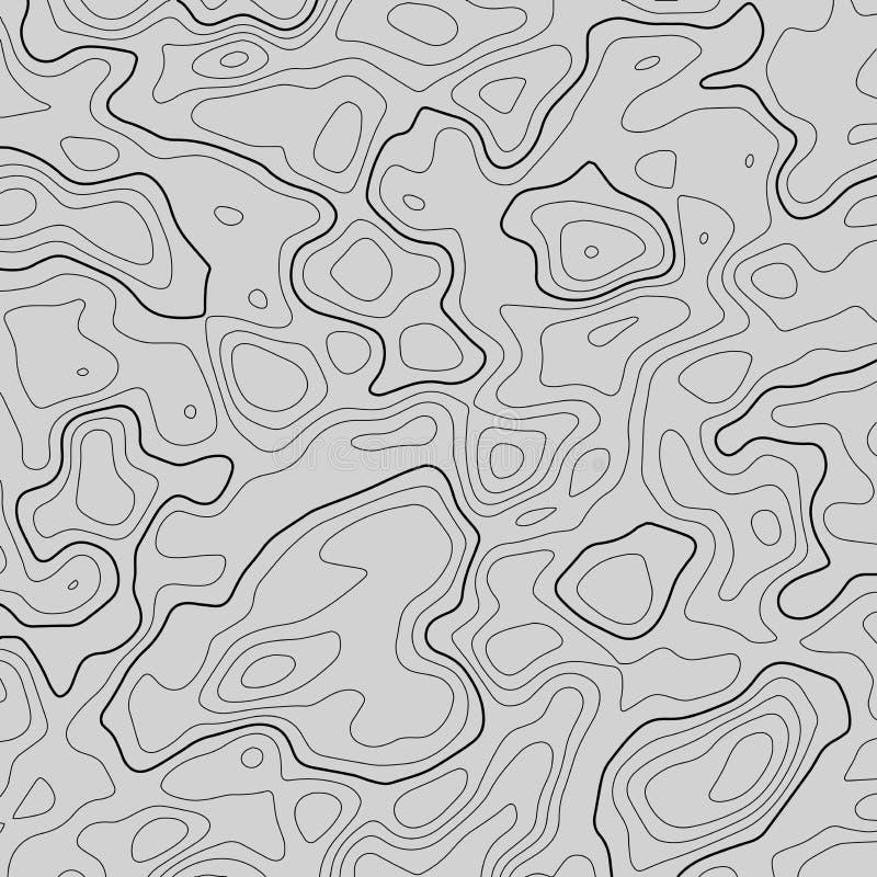 地形图线背景 r 等高线图 库存例证
