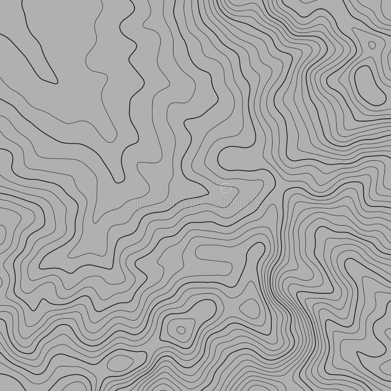 地形图线背景 r 等高线图 向量例证