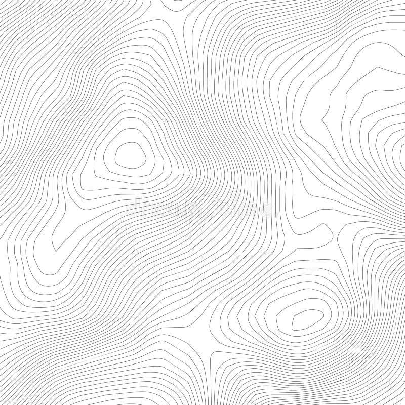 地形学抽象等高线图背景 海拔地图 空心弯曲的概述 拓扑学地图传染媒介 地理和 库存例证