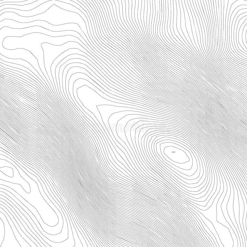 地形学抽象等高线图背景 海拔地图 空心弯曲的概述 拓扑学地图传染媒介 地理和 向量例证