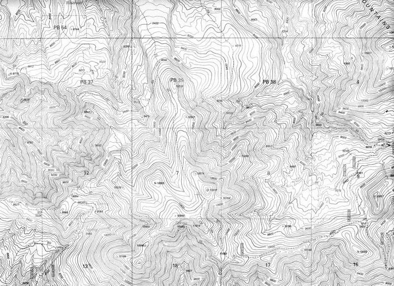 地形学映射的模式 库存图片
