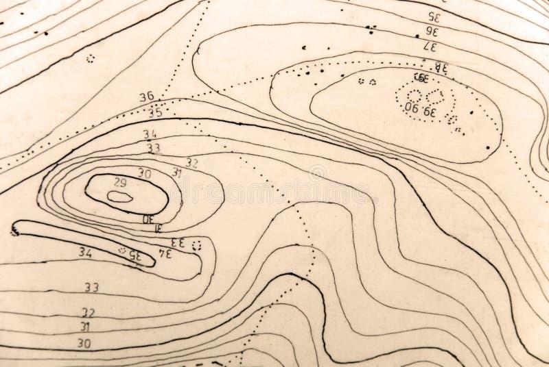地形学的映射 库存照片
