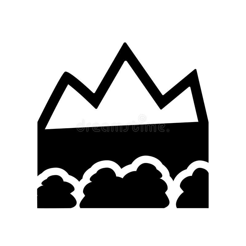 地形象 在白色背景fr的时髦地形商标概念 皇族释放例证
