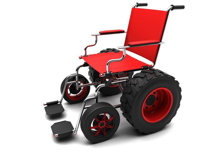 地形通信工具轮椅 向量例证