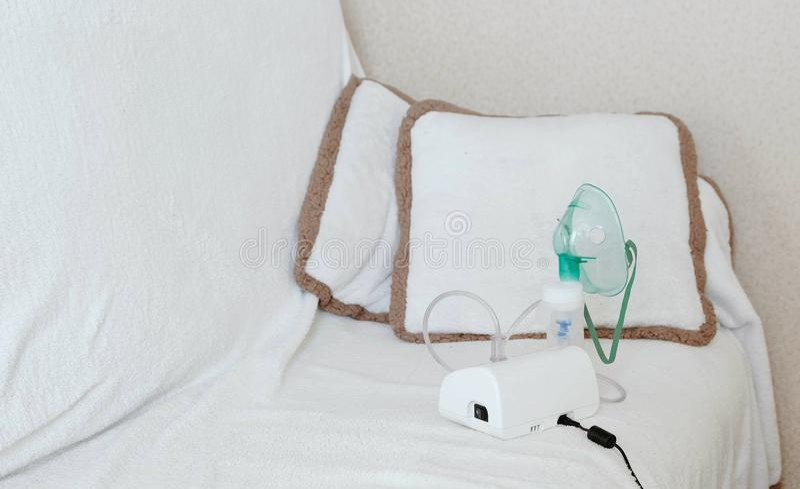 地方为使用雾化器和吸入器治疗的 免版税图库摄影