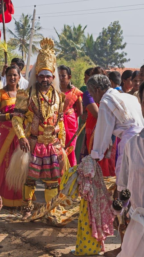 地方印度节日在卡纳塔克邦 图库摄影