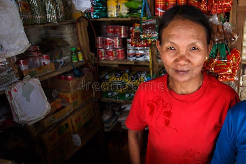 地方商店- Falam,缅甸(缅甸) 免版税库存照片