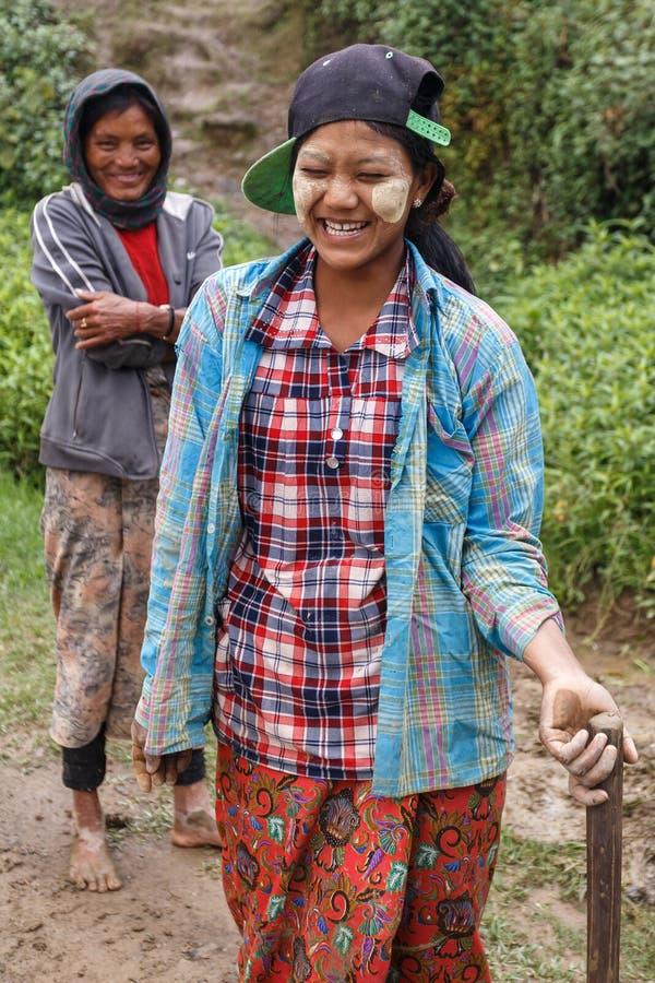 地方妇女在钦邦,缅甸 免版税库存图片
