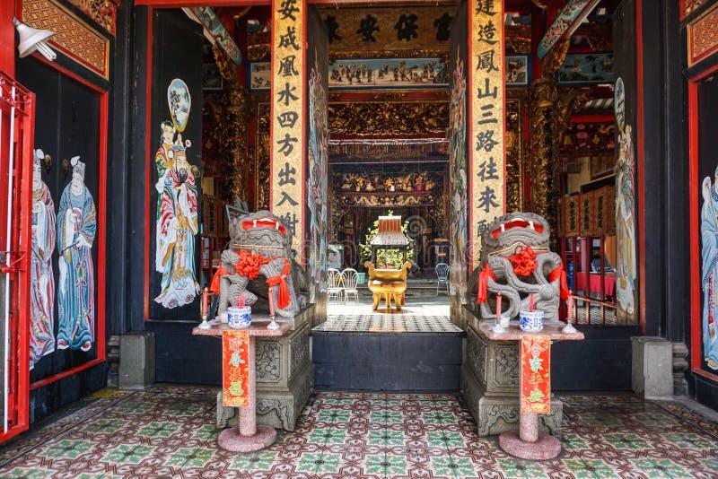 地方寺庙里面看法在Sadek,越南 免版税库存图片