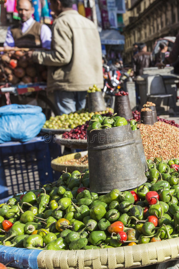 地方市场在尼泊尔 图库摄影
