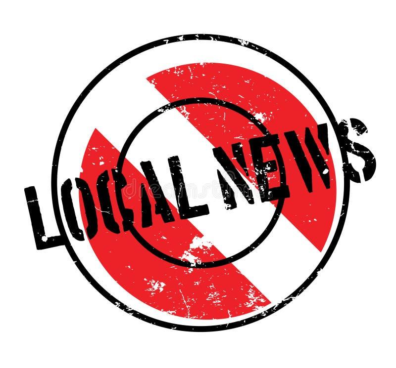 地方新闻不加考虑表赞同的人 库存例证