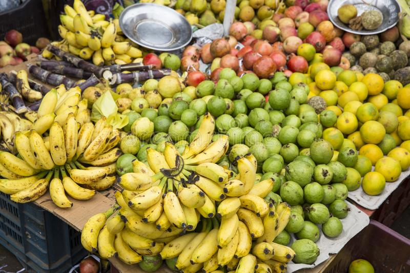 地方水果市场在印度 免版税图库摄影
