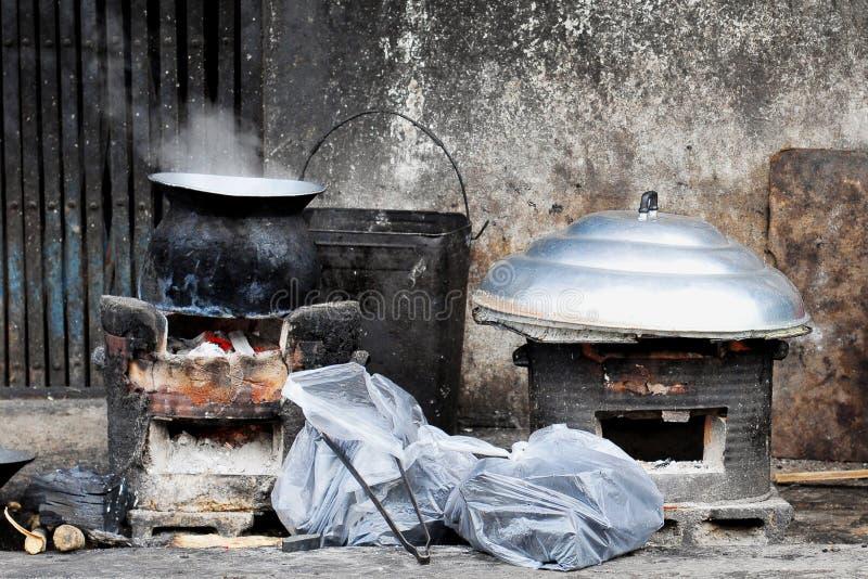 地方泰国厨房 免版税库存照片